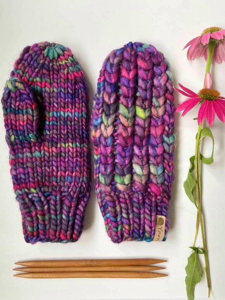 Knit a Pair of Braided Hearts Mitts ... Love This Look!