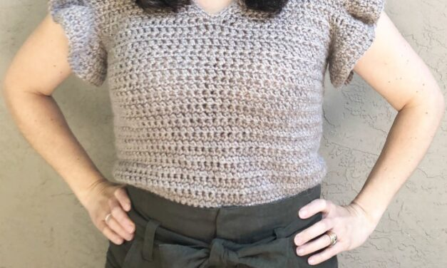 This Ruffle Sleeved Crochet Tee Is Adorable … Perfect For Work Or Play