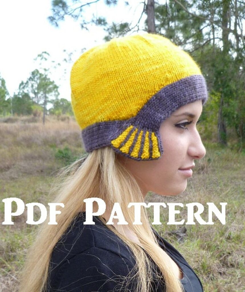 Christmas In July … Knit A Thunderstruck Cloche Hat, So Unique, Makes A Great Gift!