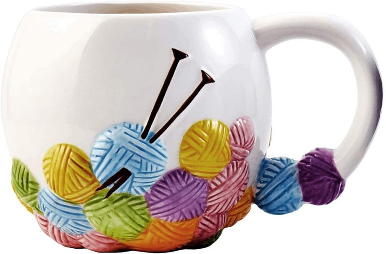 Christmas In July … Here's A Perfect Ceramic Mug For The Knitter On Your List