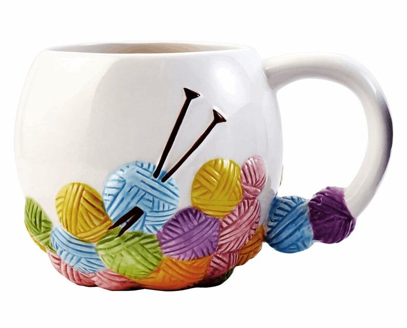 Christmas In July … Here's A Perfect Ceramic Mug For Any Knitter On Your List