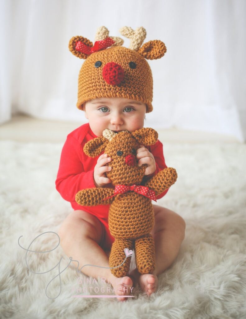 Christmas patterns designed by Jocelyn Sass of Too Cute Crochet