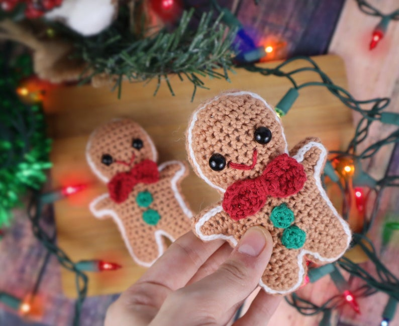 Christmas patterns designed by Olive of Stringy Ding Ding