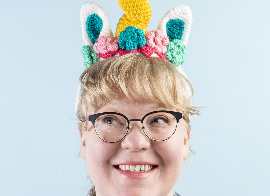 Crochet a Dazzler the Unicorn Headband Designed by Brenda K. B. Anderson – FREE Pattern!