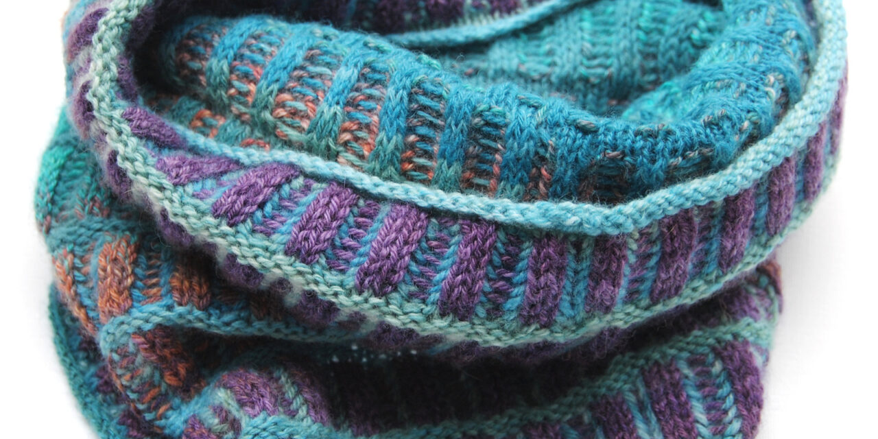 Knit a Fun & Funky Briochepira Cowl, Designed By Susanna Winter, Inspired By The Famous Inspira Cowl