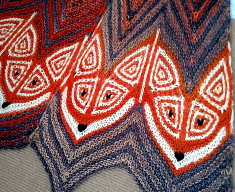 Knit A Fox Frenzy Scarf, Cleverly Designed By Natalia Moreva