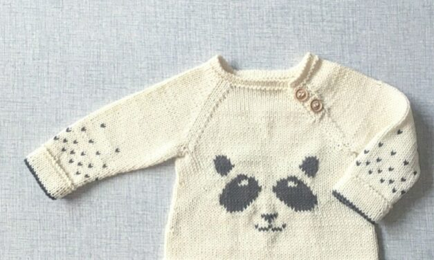 P-P-P-P-P-Panda Sweater! Knit This Sweetie For a Babe You Love!