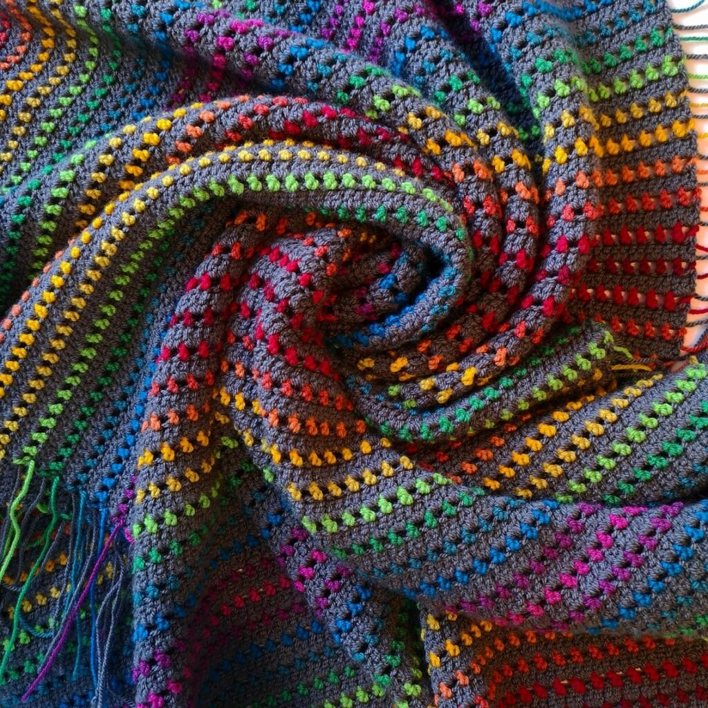 Crochet a 'Rainbow Through the Storm' Blanket With a Pattern From Melly Elly Crafts