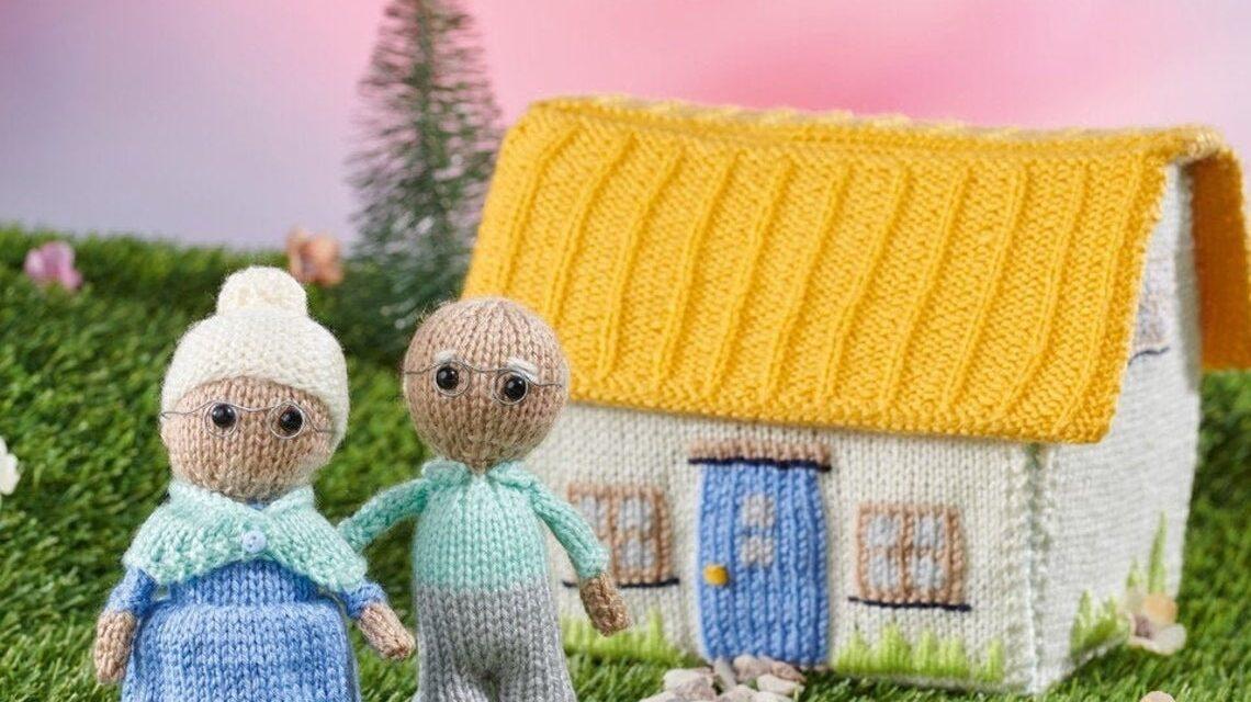 Knit Grandma and Grandpa's Cottage, A New Pattern From Fluff & Fuzz's Amanda Berry