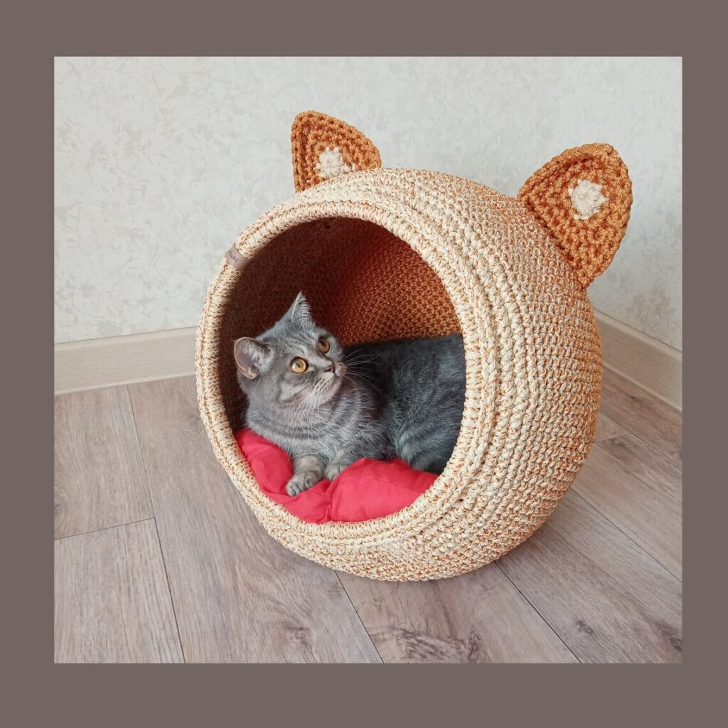The Kitty-Cat House That Feline Dreams Are Made Of - Crochet One Yourself With a Pattern or Kit, or Buy One Already Handmade!