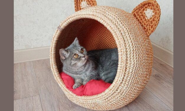 Meet The Kitty-Cat House That Feline Dreams Are Made Of – Crochet One Yourself With a Pattern or Kit, or Buy One Already Handmade!