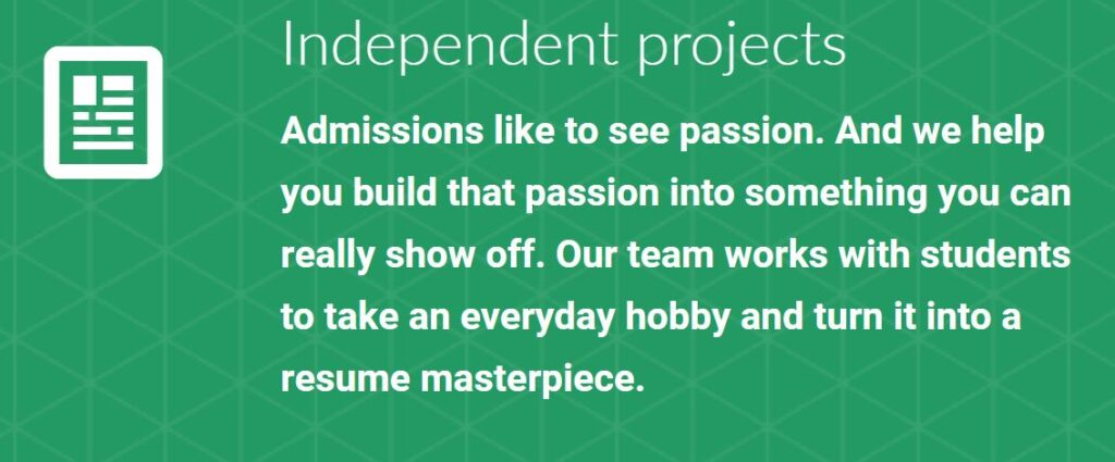 Students Ace Applications Using Independent Projects - Learn All About This Well-Kept Secret Now