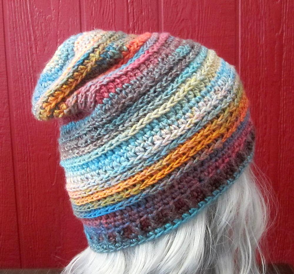 Free Pattern Alert! Crochet a Saddle Stitch Slouch Hat Designed By Pamela J White