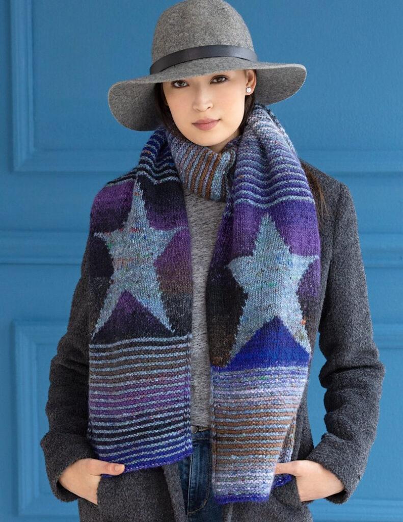 Knit A Starry Night Scarf, Designed By Katherine Mehls