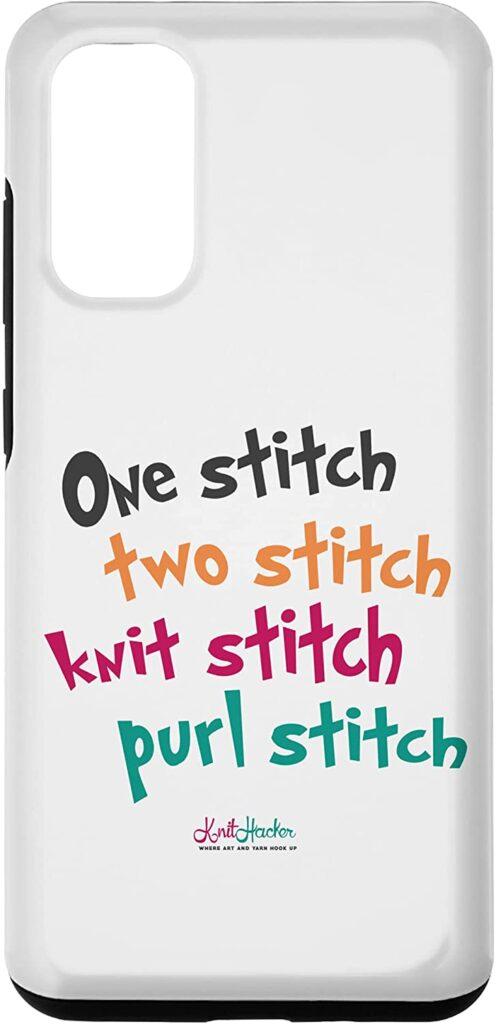 One Stitch Two Stitch Knit Stitch Purl Stitch Novelty Items