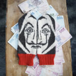 Knit a Pair of La Casa de Papel Mittens, Awesome Design By Lotta Lundin – I Spy Salvador Dalí!
