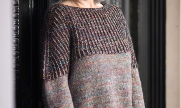 Knit A Cozy 'Cleary' Pullover For Fall, Free Pattern Designed By Alison Green
