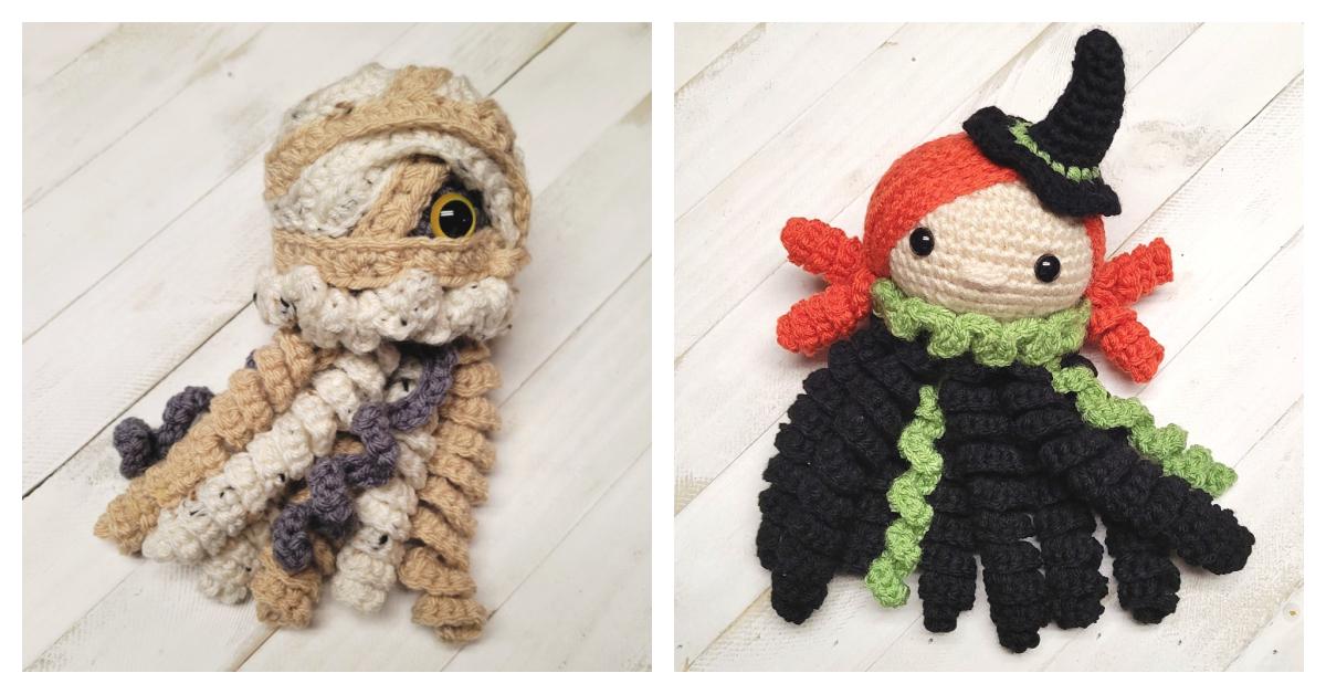 Weird & Wonderful Jellyfish Amigurumi For Halloween, Crochet a Mummy Or a Witch