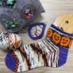 Knit a Pair of Jack O' Lantern Socks Designed By Christen Jones