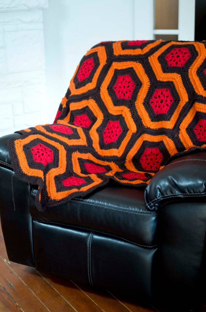 Knit A Pair Of Sock Inspired By The Shining ... There's A Crochet Afghan Pattern Too!