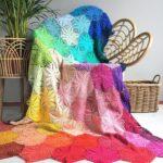 Live In Bright Technicolor With Atty's Anemone Blanket – Crocheter's Dream Project!