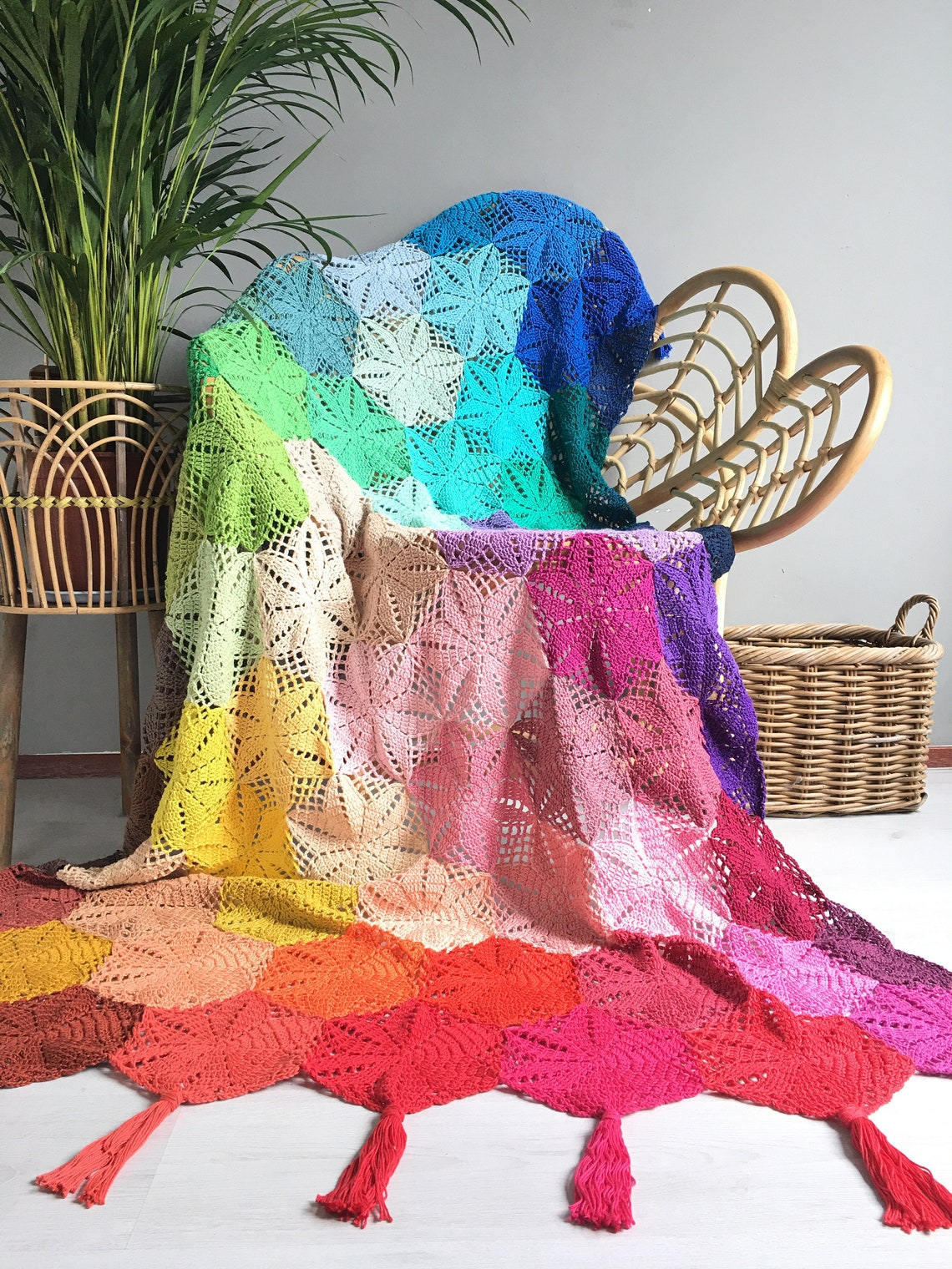 Live In Bright Technicolor With Atty's Anemone Blanket - Crocheter's Dream Project!