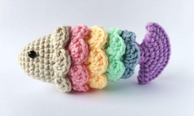 Crochet a Rainbow Fish Amigurumi