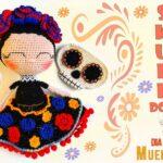 Sugar Skull Doll Amigurumi With Removable Mask … So Colorful & Fun!