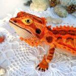 This Realistic Bearded Dragon Amigurumi Pattern Designed By Xeniia Abdullina is BONKERS Good!
