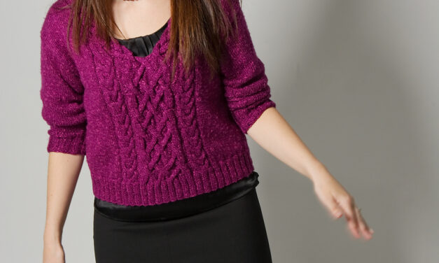 Knit An Urban Silk Cabled V Sweater Designed By Brian Kohler … It's Sweater Weather!