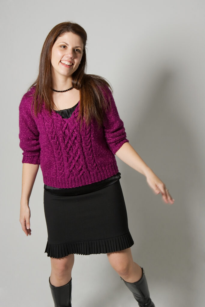 Knit An Urban Silk Cabled V Sweater Designed By Brian Kohler ... It's Sweater Weather!