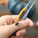 Free Tiny Pattern Alert! Crochet An Astonishingly Teensy-Weensy Spider Amigurumi, Designed By Anastasia Kirs