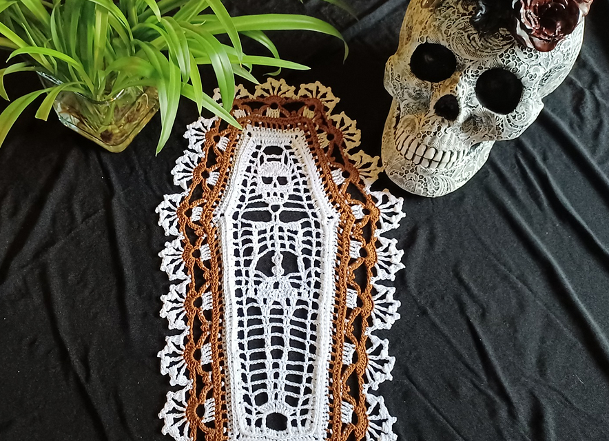This Spooky Doily Doesn't Do Dainty And It's Winning Halloween This Year!