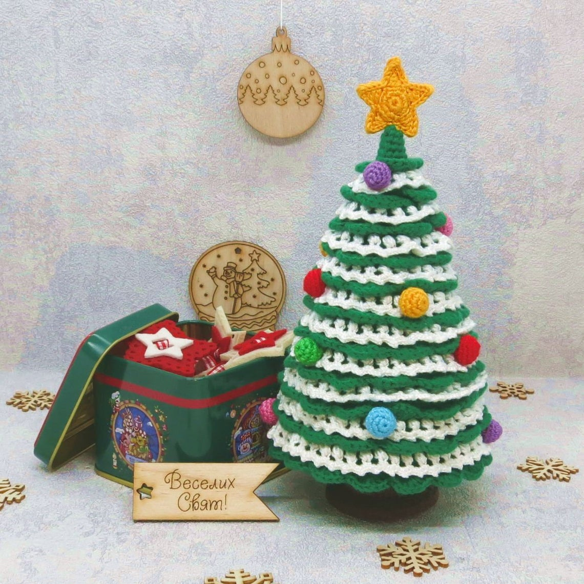 Crochet a Vintage Style Christmas Tree ... Remember Those Ceramic Ones From The 70s?